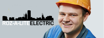 Rosalite Electrician in Helmet with Black & White Logo
